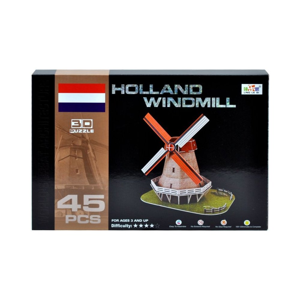 Puzzle 3D - HOLLAND WINDMILL