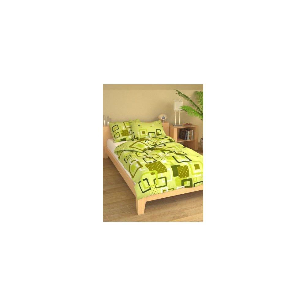 Posteľné návliečky 140 x 200 cm - GEO zelené