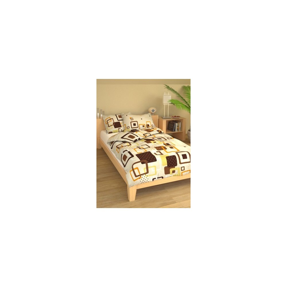 Posteľné návliečky 200 x 220 cm - Marína hnedá
