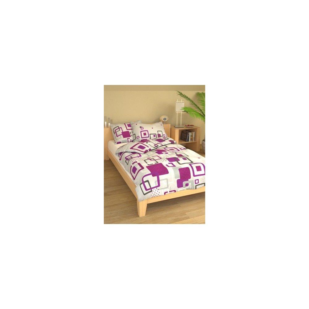 Posteľné návliečky 140 x 200 cm - Marína fialová