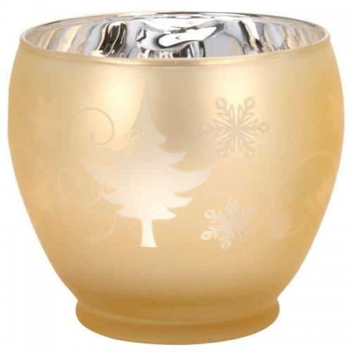 Vianočný svietnik sklenený