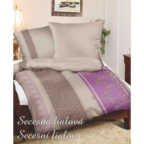 GRENO Duo 140 x 200 cm - Secesná fialová - bavlnený satén