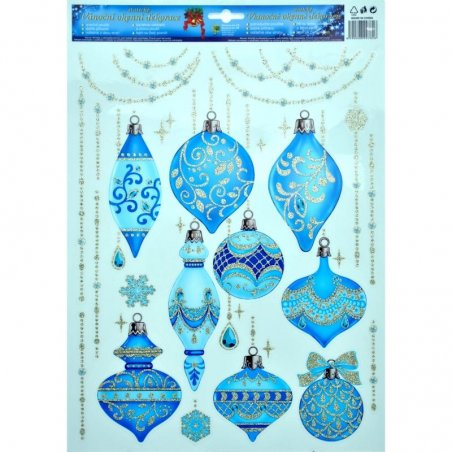 Okenná fólia - vianočné ozdoby ll