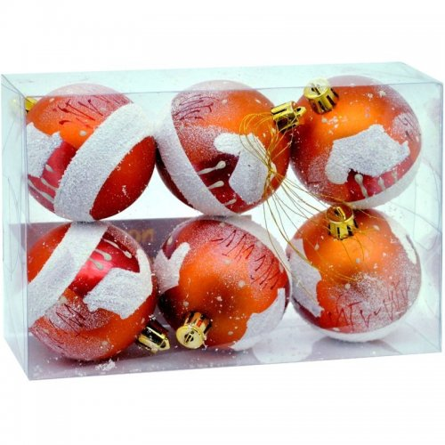 Vianočné fosforeskujúce gule 6ks - Medené