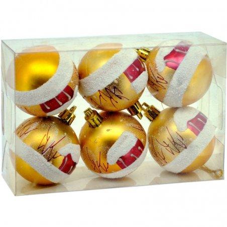 Vianočné fosforeskujúce gule 6ks - Zlaté