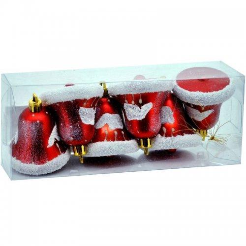 Vianočné fosforeskujúce zvončeky - Červené