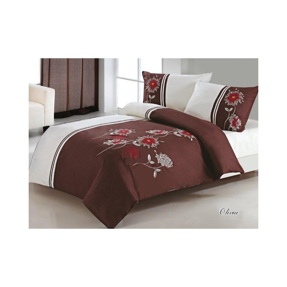 Vyšívané posteľné obliečky 200 x 220 cm - Olívia