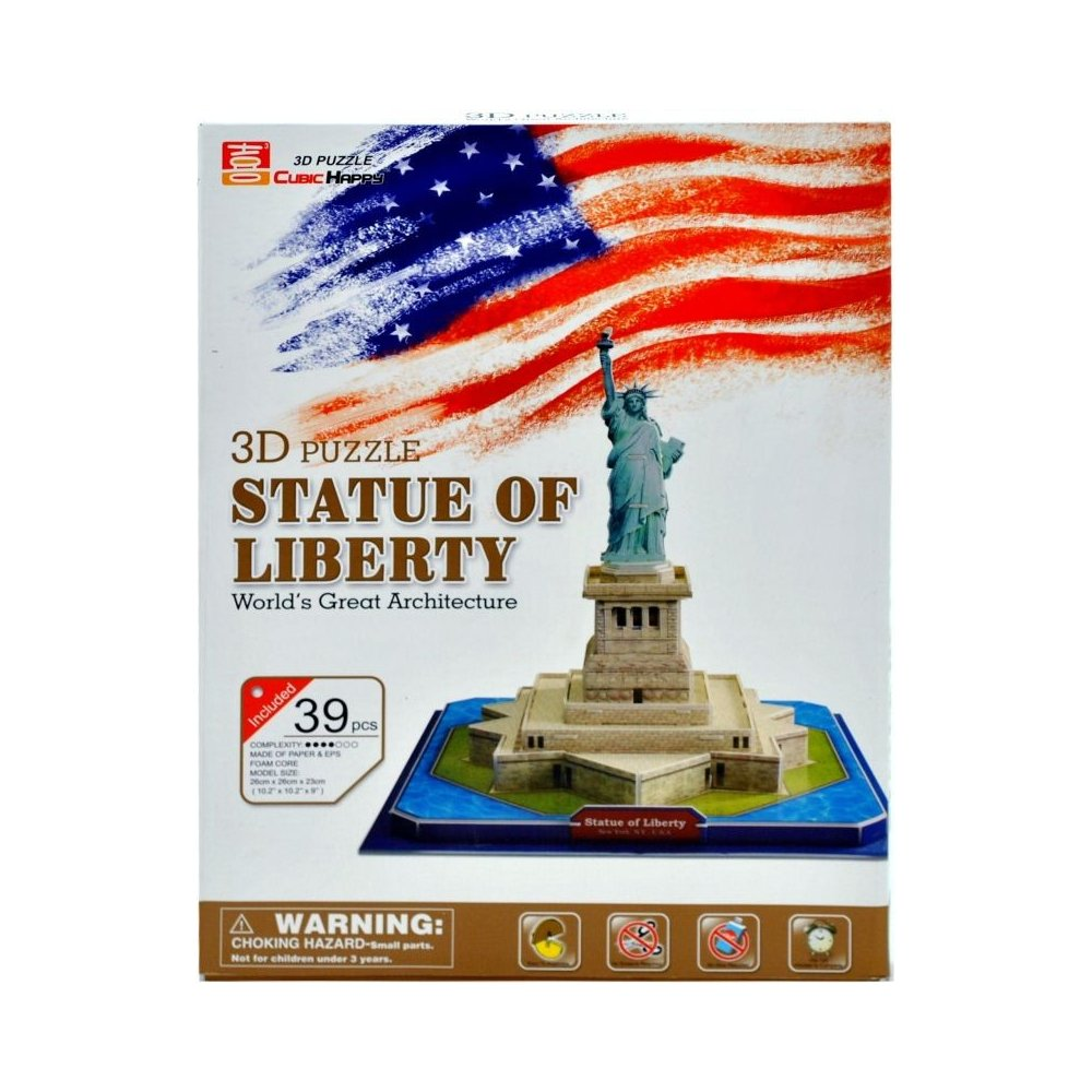 Puzzle 3D + LED - STATUE OF LIBERTY