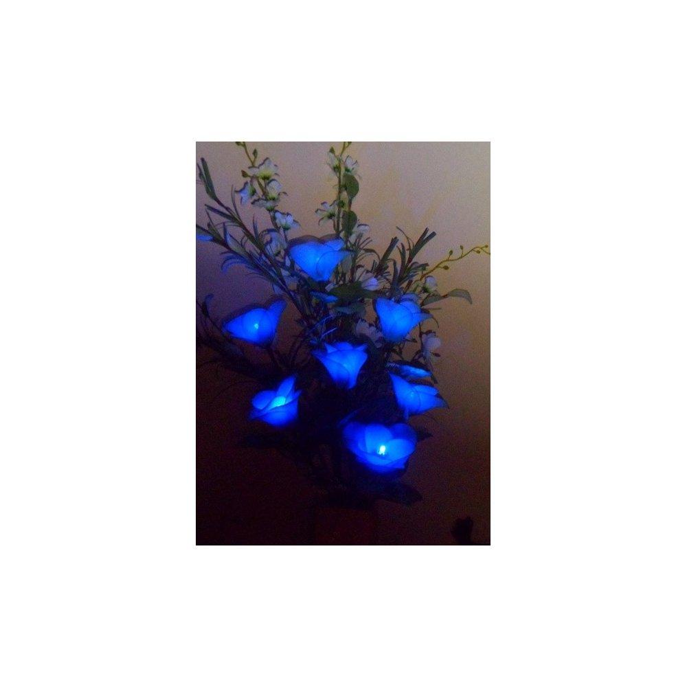 Dekoračná lampa v tvare kvetu - Rio modrá LED