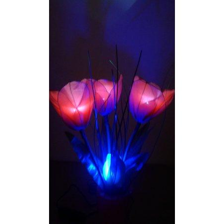 Dekoračná lampa v tvare kvetu - Mia červená LED
