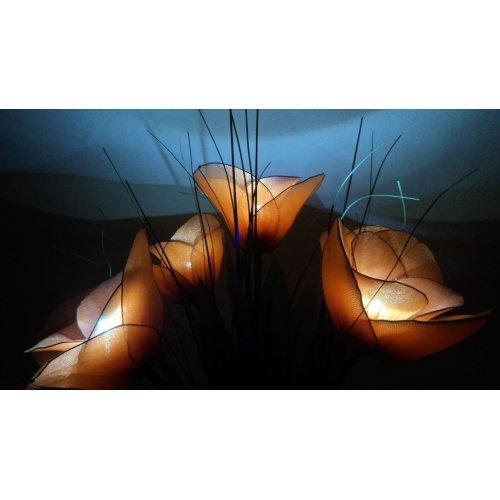 Dekoračná lampa v tvare kytice - Pia oranžová - LED