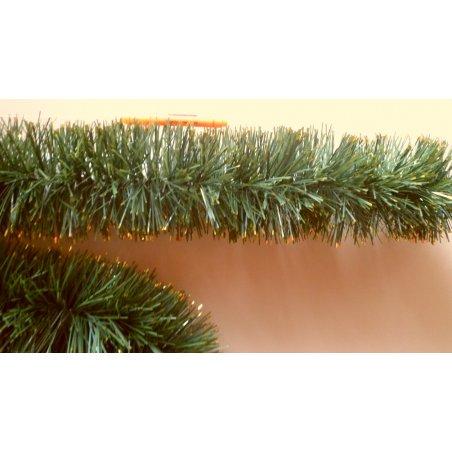 Vianočná girlanda - zlaté konce - 600cm