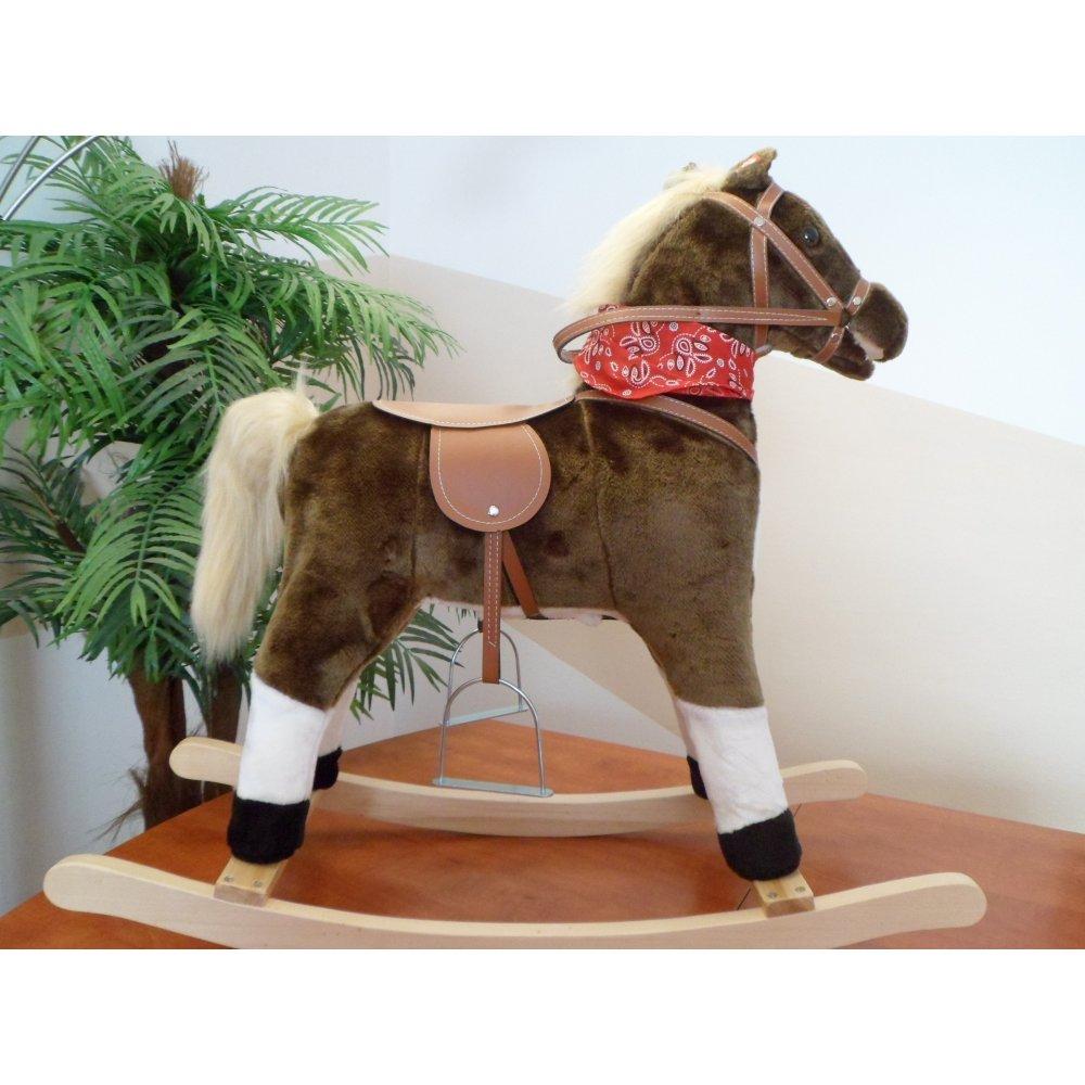 Baby Mix Hojdací koník - Lucky Jumper -hnedý