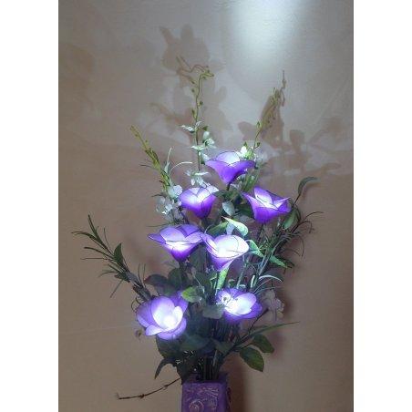 Dekoračná lampa v tvare kvetu - Ria fialová LED