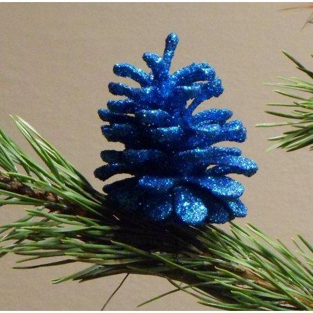 Šiška s glitrom tyrkysovo-modrá 1ks