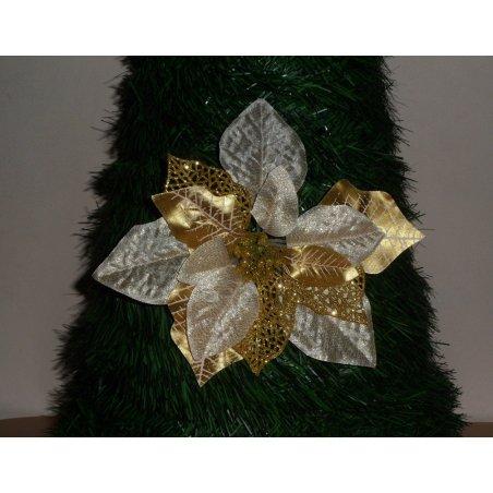 Vianočná ruža zlatá s priemerom 20 cm