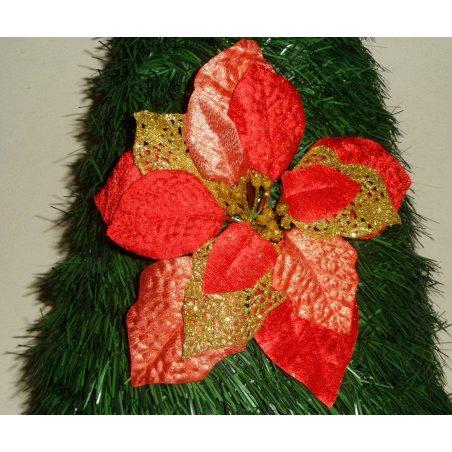 Vianočná ruža červená s priemerom 20 cm