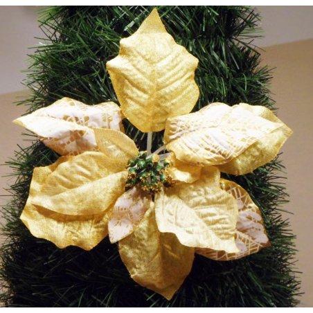 Vianočná ruža žltozlatá s priemerom 20 cm