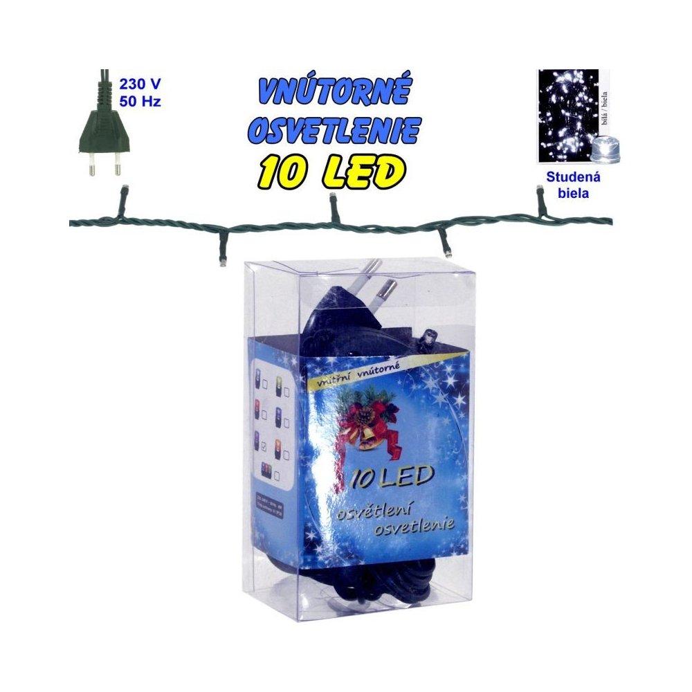 Vnútorné vianočné osvetlenie 10 LED - biela studená