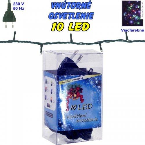 Vnútorné vianočné osvetlenie 10 LED - viacfarebné