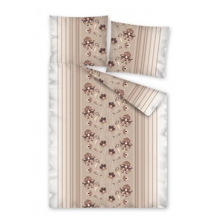 Obliečky Líza capucino 100 % bavlna  - 1 ks x 140x200 cm, 1 ks 70x90 cm