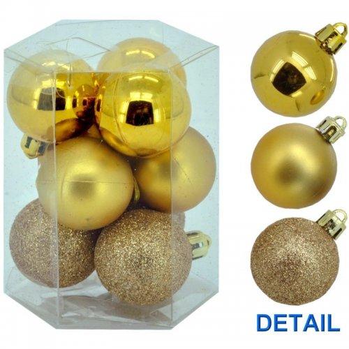 Vianočné  gule 9ks - Zlaté