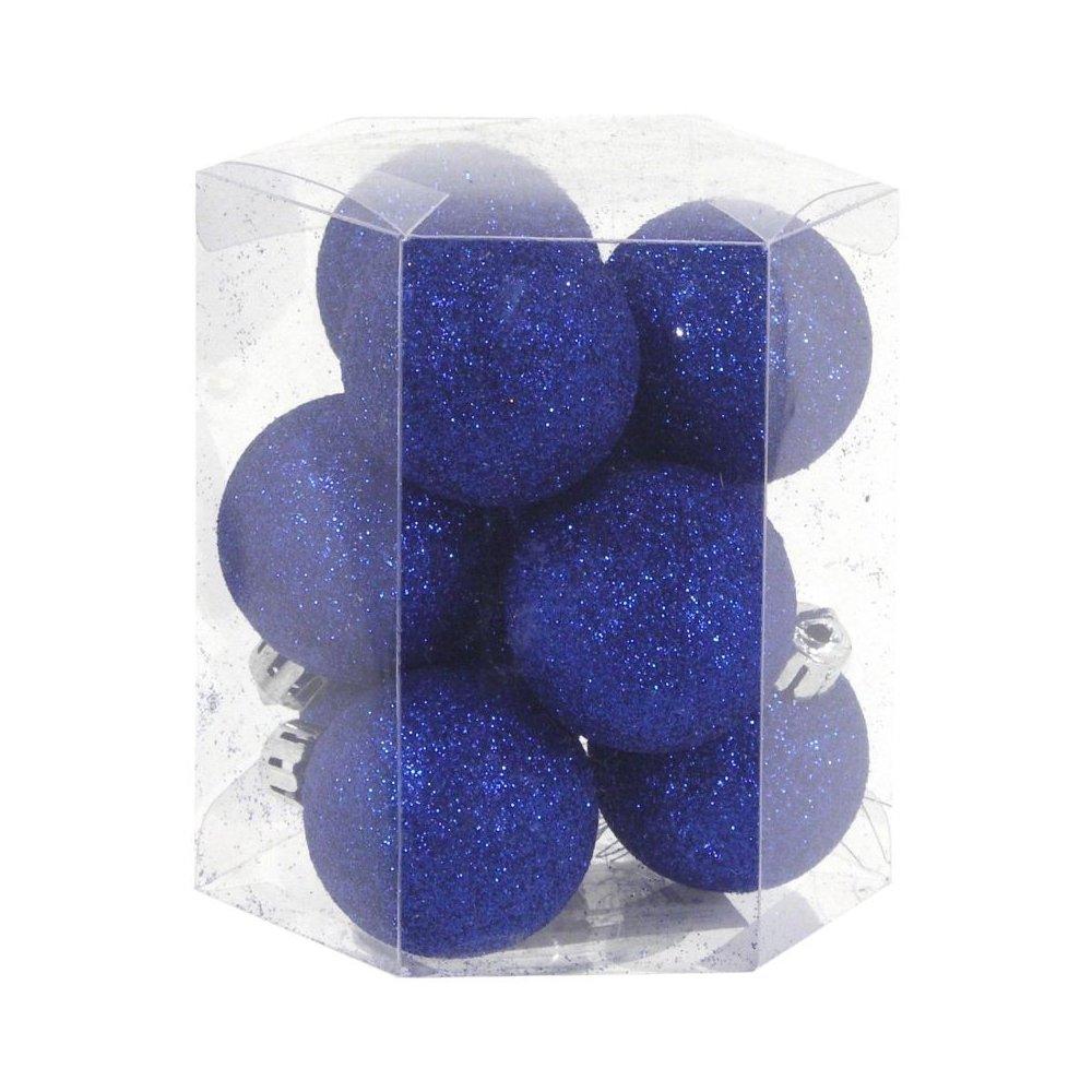 Vianočné  gule 9ks - Modré
