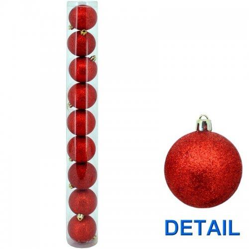 Vianočné  gule - Červené Ø6
