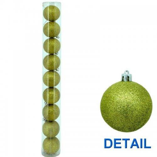 Vianočné  gule - Zelené Ø6