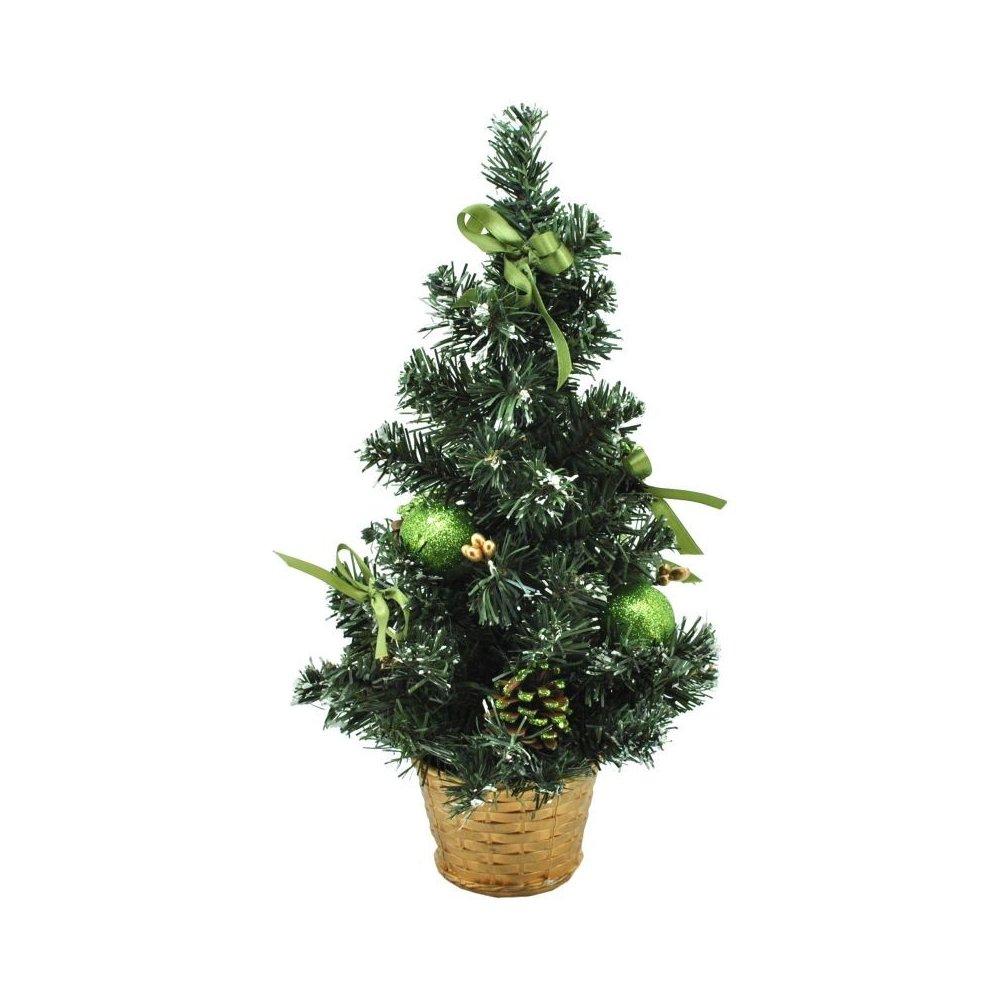 Stromček zdobený - Nina zelená 40cm