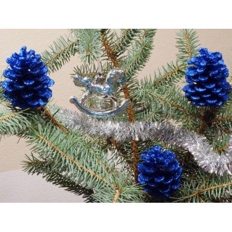 Šiška s glitrom tyrkysovo-modrá 4ks