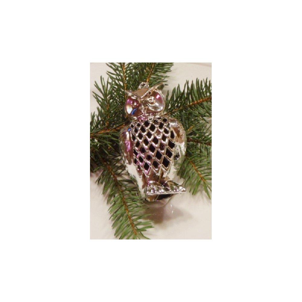 Strieborná dekorácia - sova