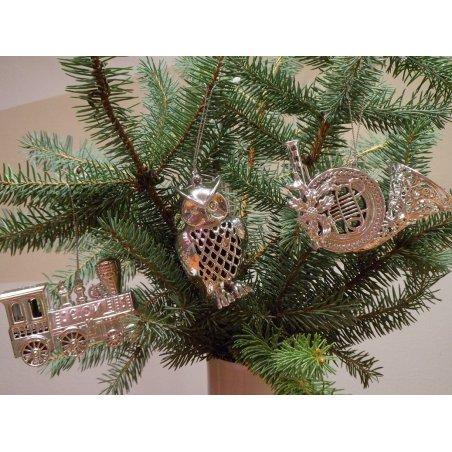 Strieborná dekorácia - lesný roh