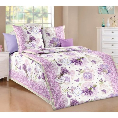 Bavlnené posteľné návliečky- LEVANDUĽA  fialová - 100 % bavlna - 1 ks x 140x200 cm, 1 ks 70x90 cm