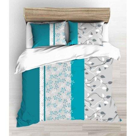 Obliečky Afrodita tyrkys 100 % bavlna  - 1 ks x 140x200 cm, 1 ks 70x90 cm