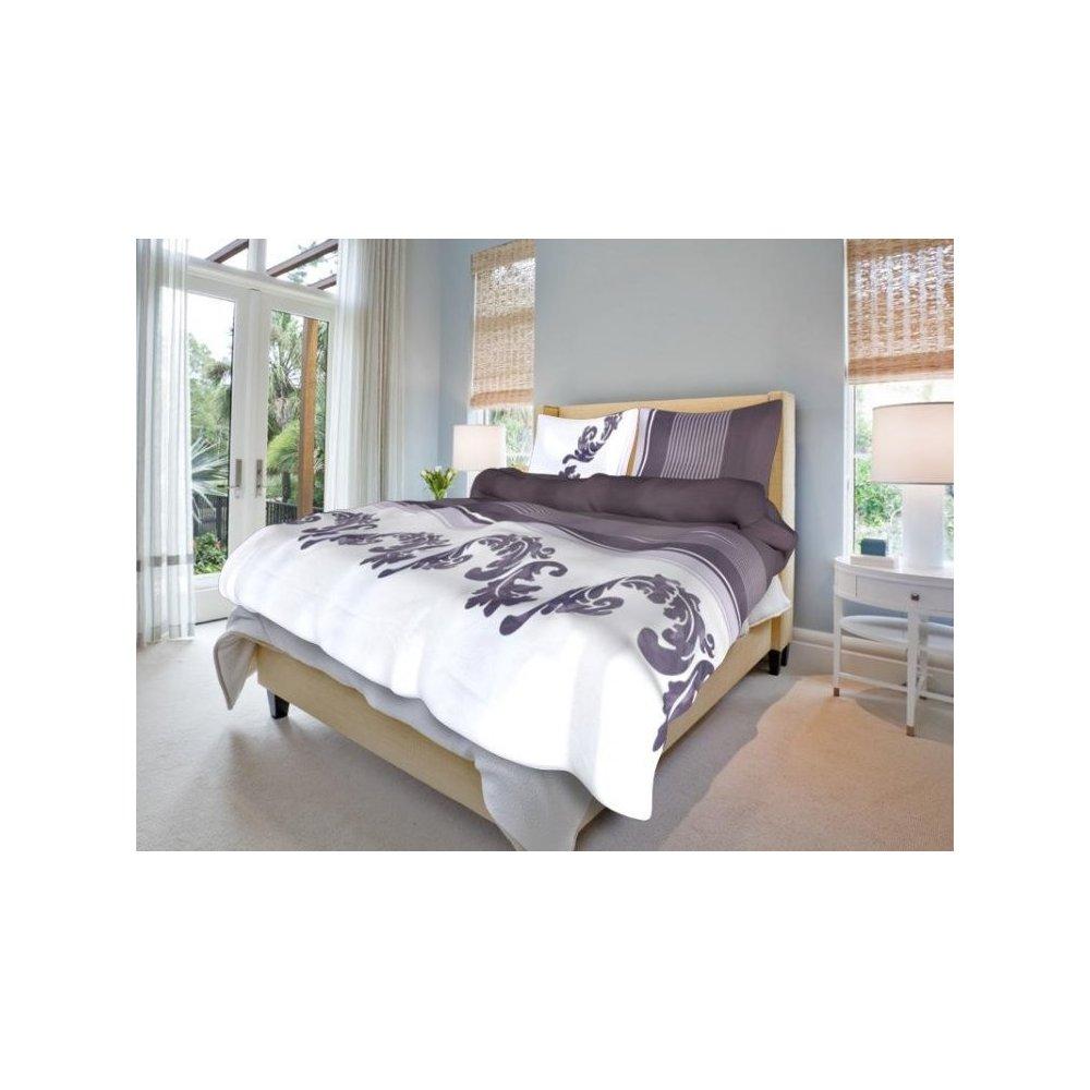Posteľné návliečky-BÁJNA šedofialová- 100% bavlna - 1ks x200 x 220 cm +2 ks 70x90 cm -