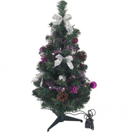 Zdobený stromček - Fialový LED10
