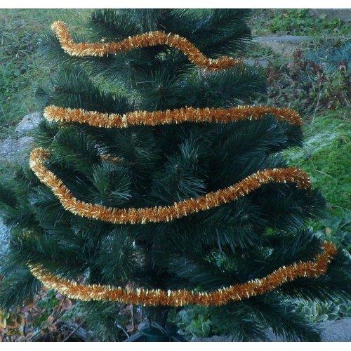 Vianočná girlanda - zlatá -...