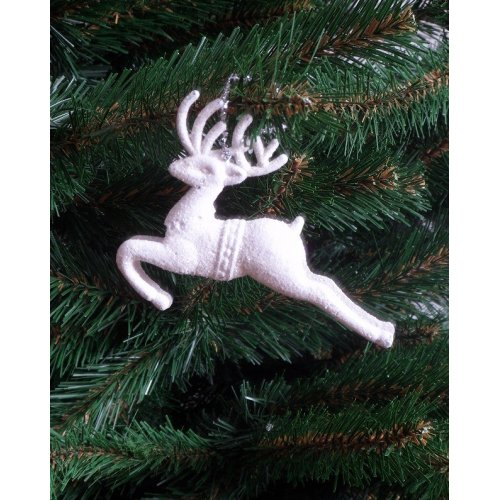 Vianočný jeleň prleťovo biely