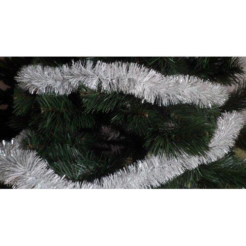 Vianočná girlanda - biela-...