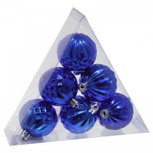 Vianočné  gule 6ks - Modré...