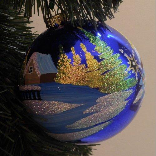 Vianočná  guľa M - Maľovaná...