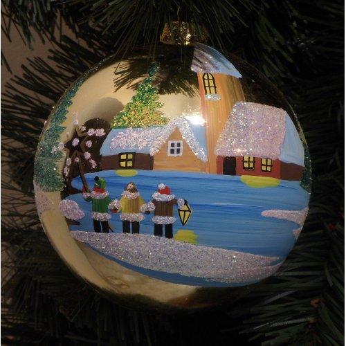 Vianočná  guľa Z - Maľovaná...