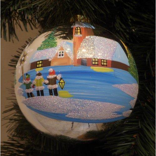 Vianočná  guľa S - Maľovaná...