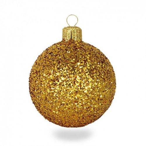 Vianočné gule glitrové Ø 6...