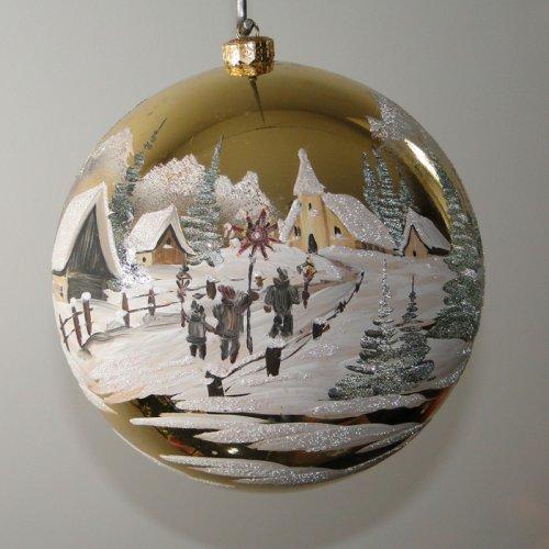 Vianočná  guľa - maľovaná...
