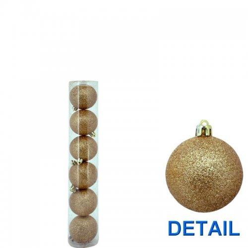 Vianočné  gule glitrové -...