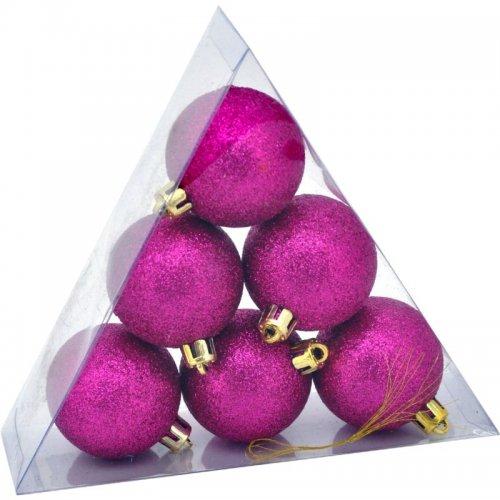 Vianočné  glitrové gule...