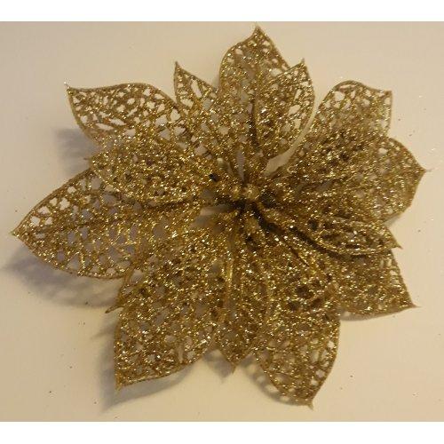 Vianočná ruža zlatá  s Ø 15...
