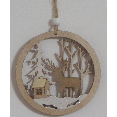 Drevená závesna dekorácia -...